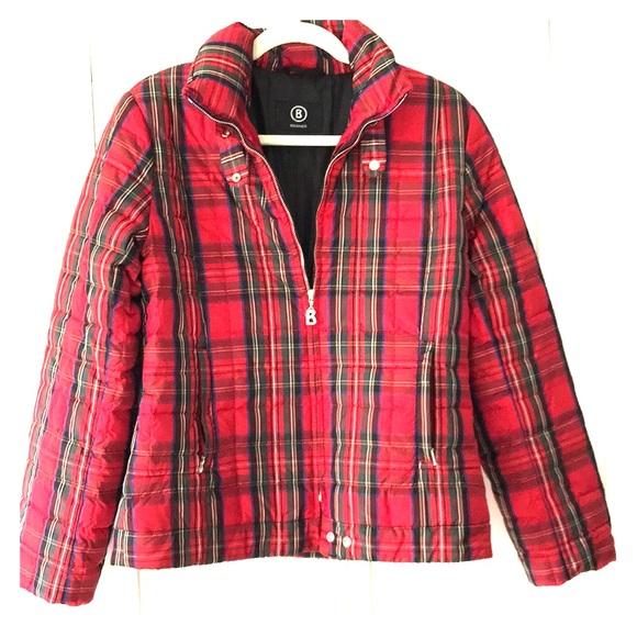 Bogner Jackets Amp Coats Plaid Ski Jacket Poshmark